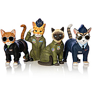 U.S. Air Force Cat Figurine Collection By Blake Jensen