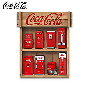 Mini COKE Vending Machine Sculptures With Display Case
