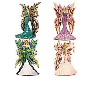 "Sara Biddle ""Mystic Crystal Spirits"" Fairy Figurines"