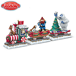 Rudolph The Red-Nosed Reindeer Train Figurine Collection