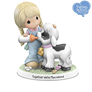 Precious Moments Farmhouse Figurine Collection With Display