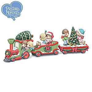 Precious Moments Christmas Train Figurine Collection