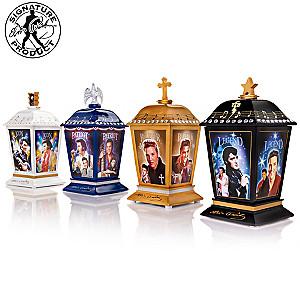 """The Many Sides Of Elvis"" Illuminated Lantern Collection"