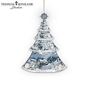 "Thomas Kinkade ""Crystal Holidays"" Annual Ornament Collection"
