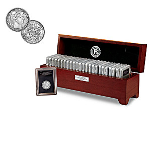 The Complete Barber Silver Quarter Collection And Wooden Box