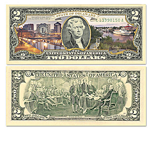 The U.S. $2 Statehood Bills Collection With Display Box