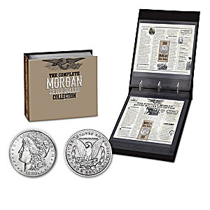 Morgan Silver Dollars Of The Wild West With Album: 1878-1921