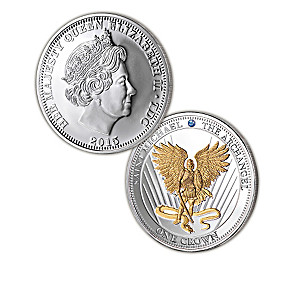 Strength of Our Faith Archangel Silver Crown Coins With Box
