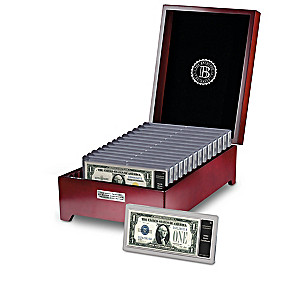20th Century $1 Silver Certificates With Display Cases