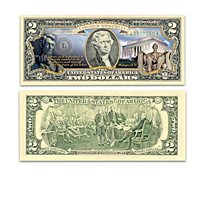 Official U.S. $2 Bills Honoring America's Historic Monuments