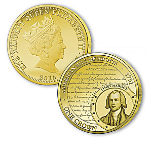 Legacy Of Freedom Golden Crown Coin Collection With Display