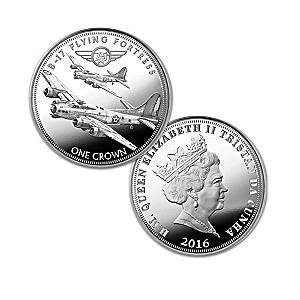75th Anniversary WWII Bombers Silver Crown Coin Collection
