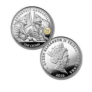 Roosevelt & Churchill 75th Anniversary Coin Collection