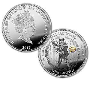 100th Anniversary U.S. In WWI Silver-Plated Coin Collection