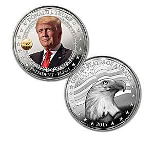The 45th U.S. President Trump Silver Proof Coin Collection