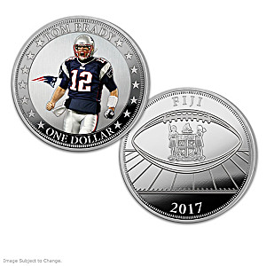 Tom Brady NFL Legacy Legal Tender Silver Dollar Collection