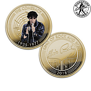 Elvis King Of Rock And Roll 24K Gold-Plated Coin Collection