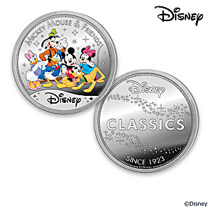 """Disney Classics"" Silver-Plated Proof Collection"