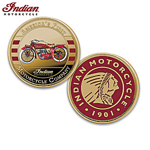 Indian Motorcycle Proof Coin Collection With Display Box