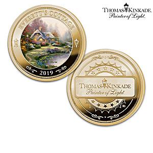 Thomas Kinkade Proof Coin Collection With Display Box
