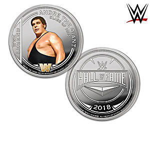 WWE Hall Of Fame Proof Coin Collection With Display Box