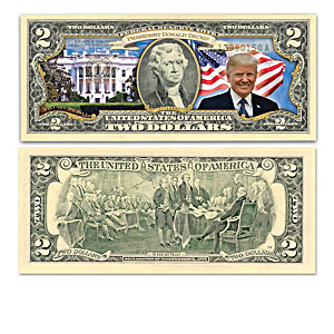 Genuine U.S. $2 Bills Depicting President Donald Trump