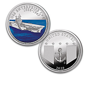 WWII U.S. Navy Aircraft Carrier Silver-Plated Proof Coins