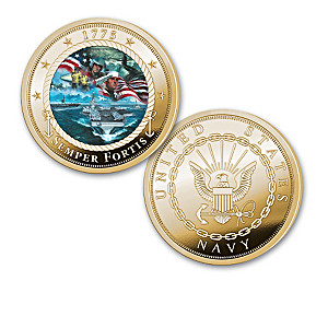The U.S. Navy 24K Gold-Plated Proof Coin Collection