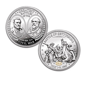 The Greatest Battles Of The Civil War Proof Coin Collection
