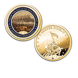 """The Marines' Hymn"" 24K Gold-Plated USMC Proof Collection"