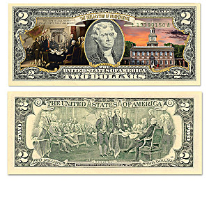 Genuine U.S. $2 Bills Honoring American History Milestones