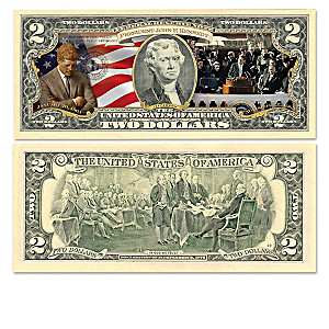 JFK Legacy $2 Bills Currency Collection With Display Box