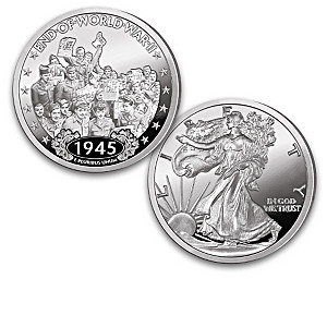 Walking Liberty WWII History Proof Coins With Display
