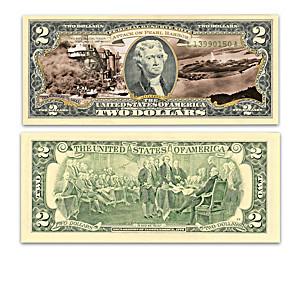 World War II Battles $2 Bills Collection With Display Box