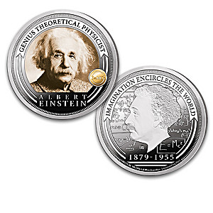 The Albert Einstein Legacy Proof Coin Collection And Display