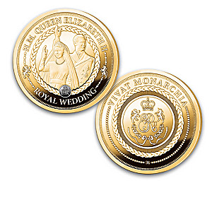 Queen Elizabeth II 24K Gold-Plated Proof Coin Collection