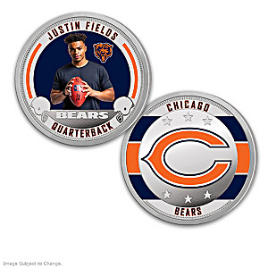 Chicago Bears Proof Coin Collection With Display