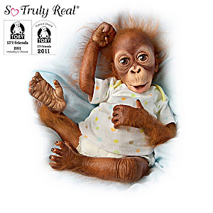 Simon Laurens Poseable Baby Orangutan Doll Collection