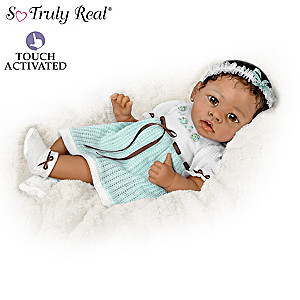 Lifelike Interactive African-American Baby Doll Collection