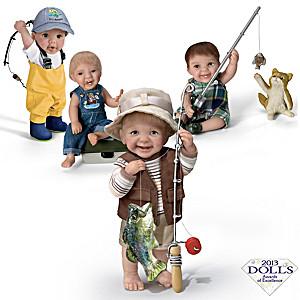 "Fisherman ""Reel Cute"" Toddler Boy Dolls By Cheryl Hill"