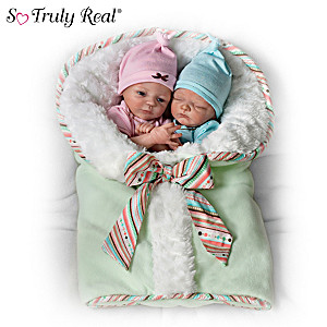 "Donna Lee ""Twice The Love"" Poseable Twin Baby Doll Sets"