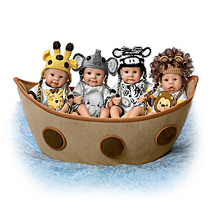Sherry Rawn Noah's Ark Miniature Baby Doll Collection