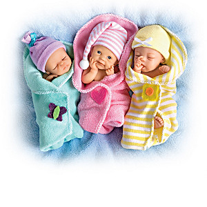 "Sherry Rawn ""Bundle Babies"" Miniature Lifelike Baby Dolls"