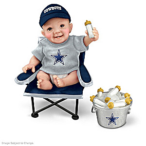 "Dallas Cowboys ""Tailgatin' Tots"" Fan Doll Collection"