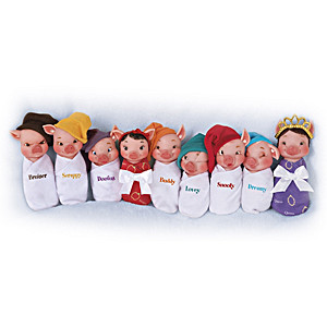 """Sow White And The Seven Swines"" Miniature Doll Collection"