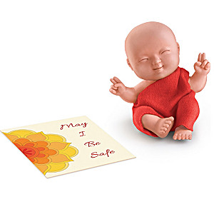 """Happy Baby Buddhas"" Mini Baby Dolls With Meditation Cards"