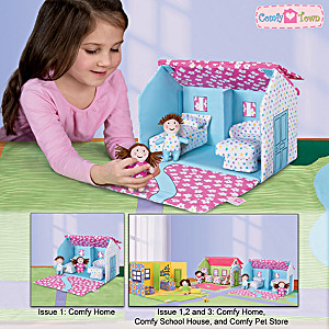 Portable Fabric Doll House And Plush Toy Doll Collection