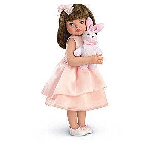 Mayra Garza Porcelain Child Doll And Plush Animal Collection