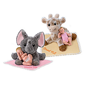 """""""All My Wishes For You"""" Miniature Baby Dolls & Plush Animals"""