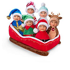 """Santa's Li'l Helpers"" Mini Beanbag Baby Doll Collection"
